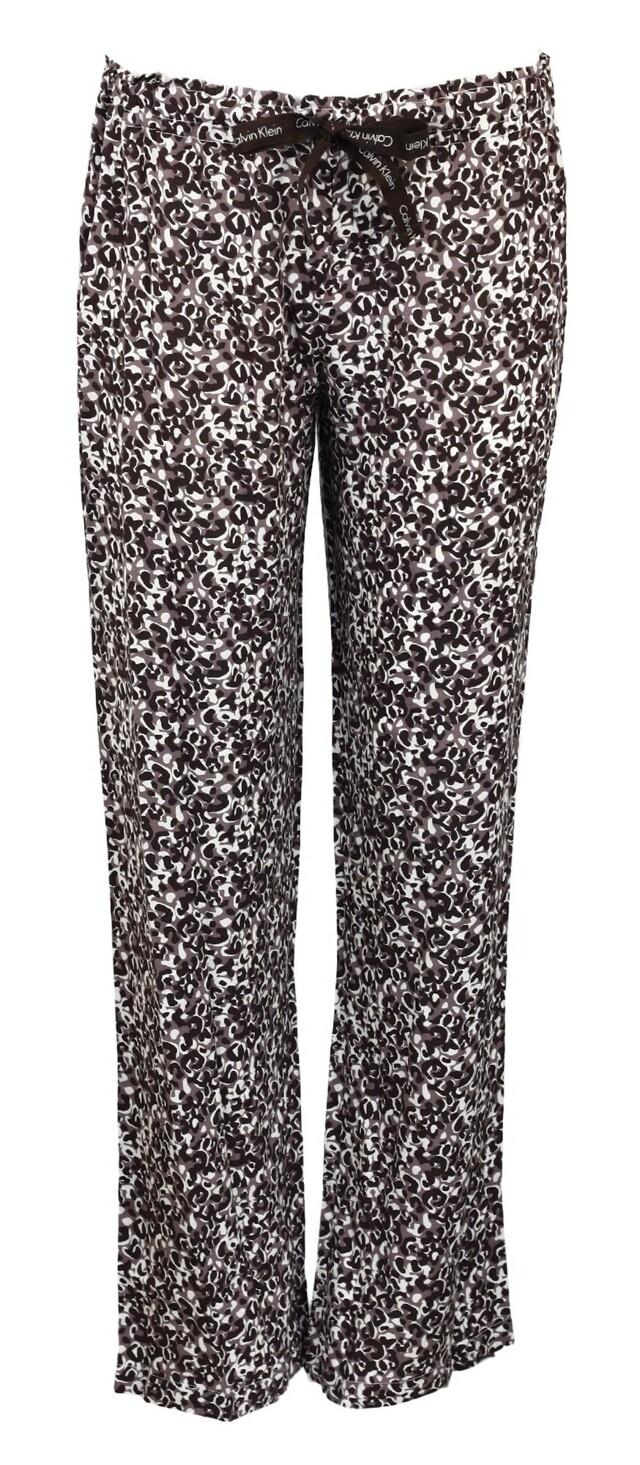 Dámské pyžamové kalhoty S1614E - Calvin Klein - S - černá-potisk