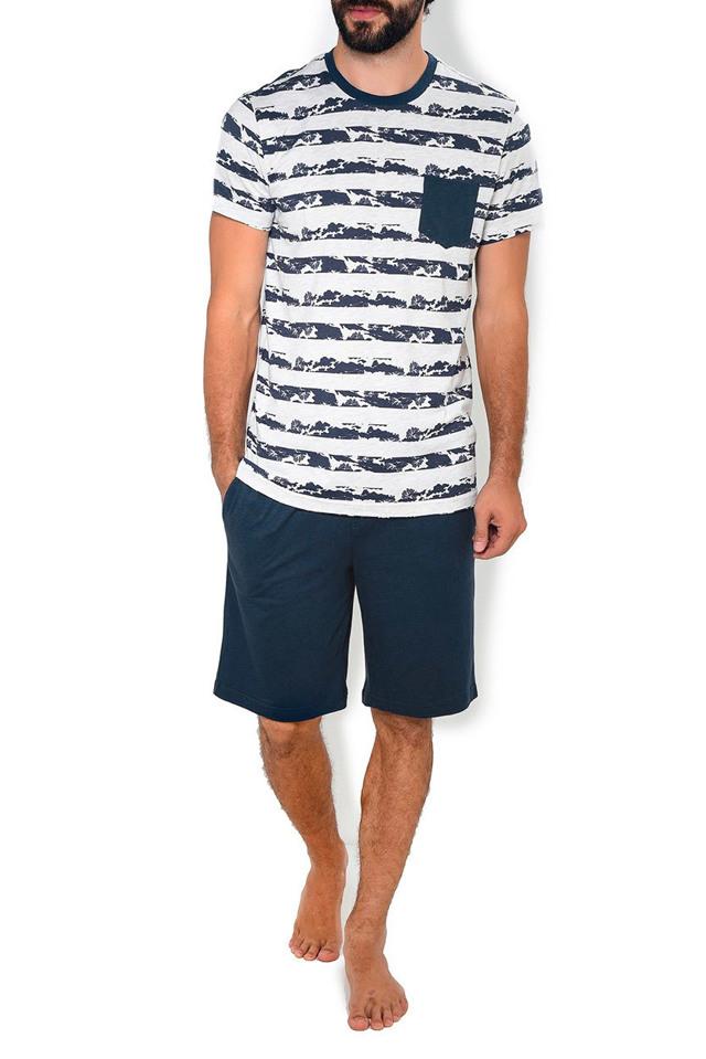 Pánské pyžamo 570002 - Jockey - XXL - tm.modrá-šedá