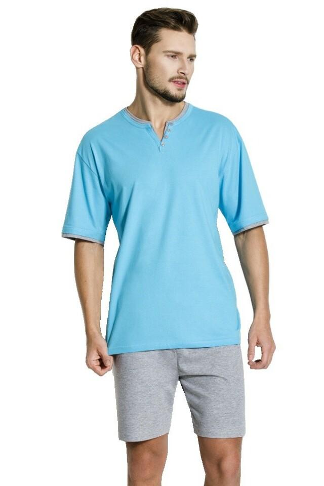 Pánské pyžamo Alex modré krátké