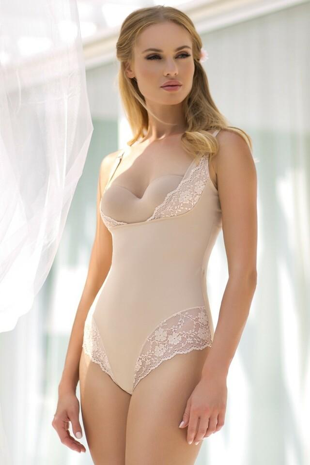 Stahovací body Vanilia beige - L - béžová