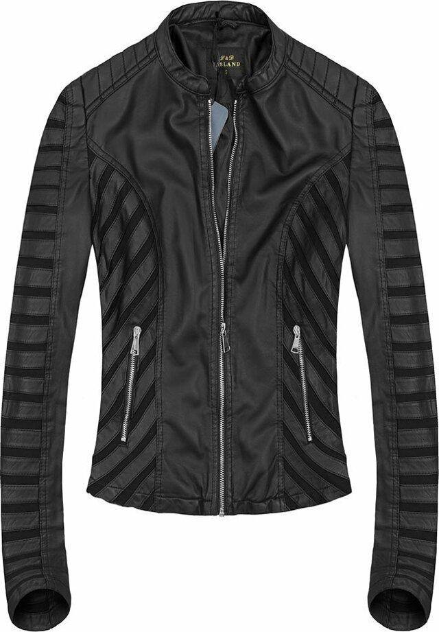 Černá bunda se síťovanými vsadkami (5267) - XL (42) - černá