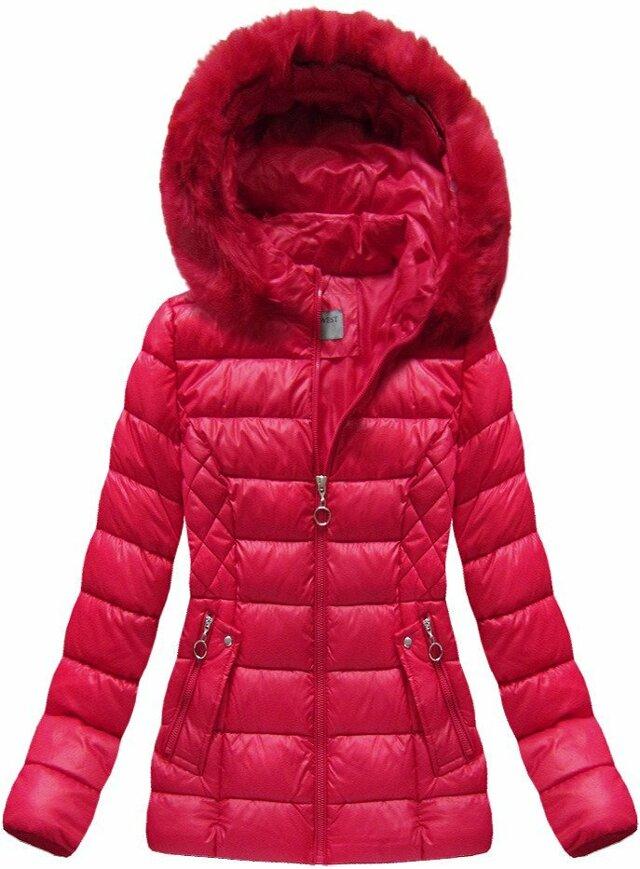 Červená dámská zimní bunda (B1035-30) - S (36) - červená