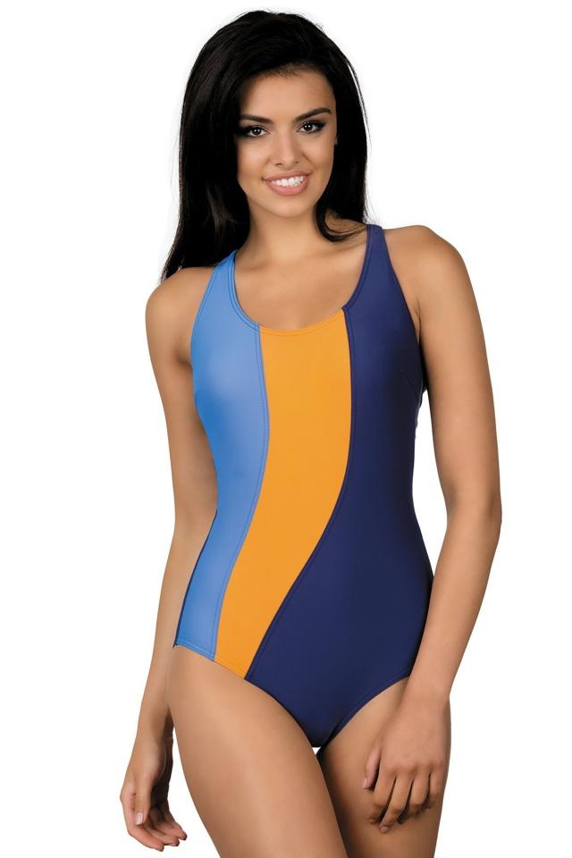 Dámské sportovní plavky Gita modrooranžové