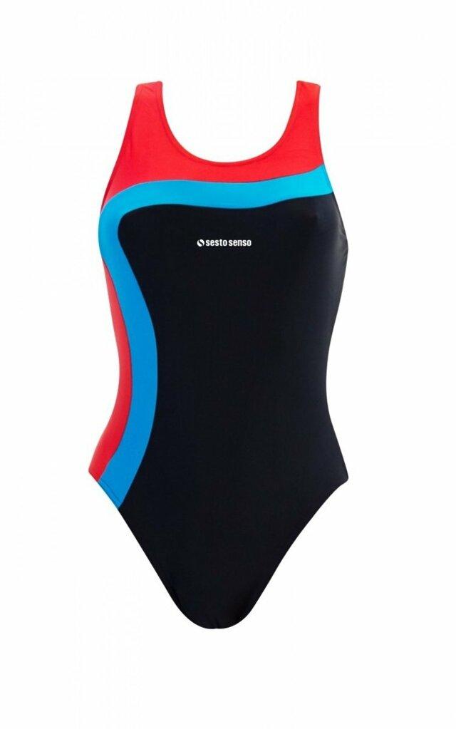 Jednodílné dámské plavky 728 - tmavě modrá - XL