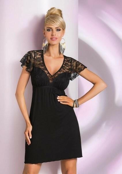 Noční košilka Linda - Donna - XL - černá