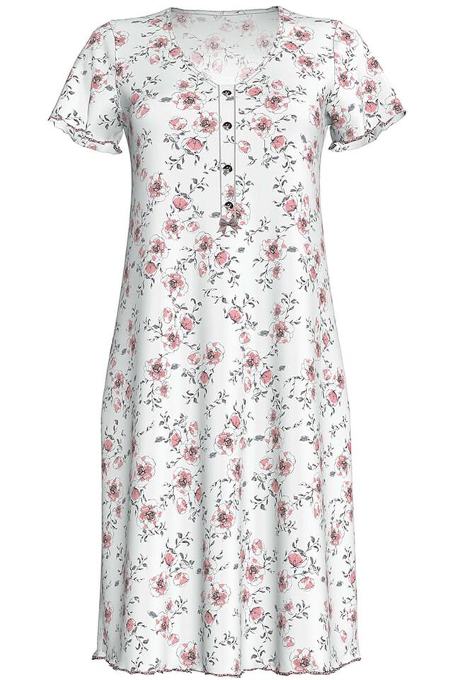 Dámská noční košile 10-6795 Vamp - S - ecru-růžová
