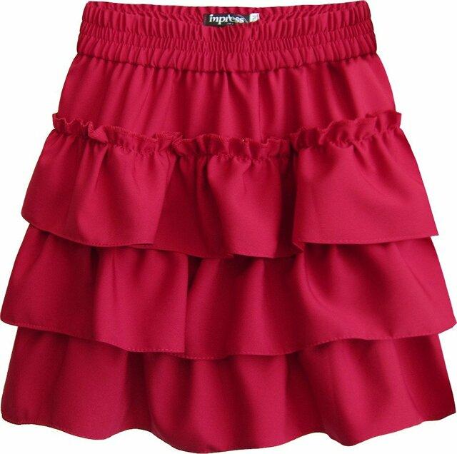cabd78c99712 Červená dámská mini sukně s volánky (310ART) - XL (42) - červená