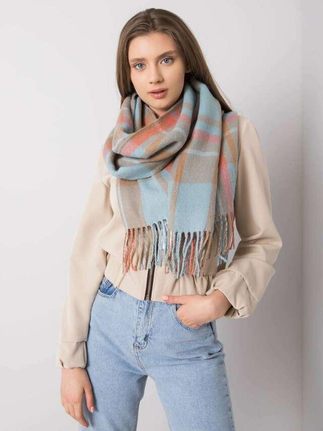 Modrý kostkovaný šátek - ONE SIZE