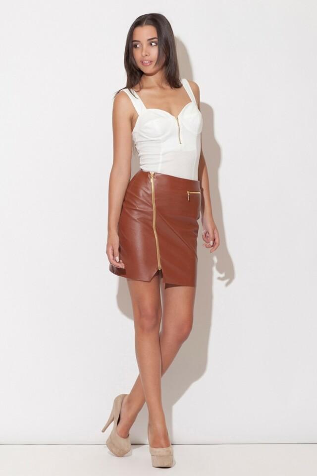 Dámská sukně K096 brown - L - hnědá