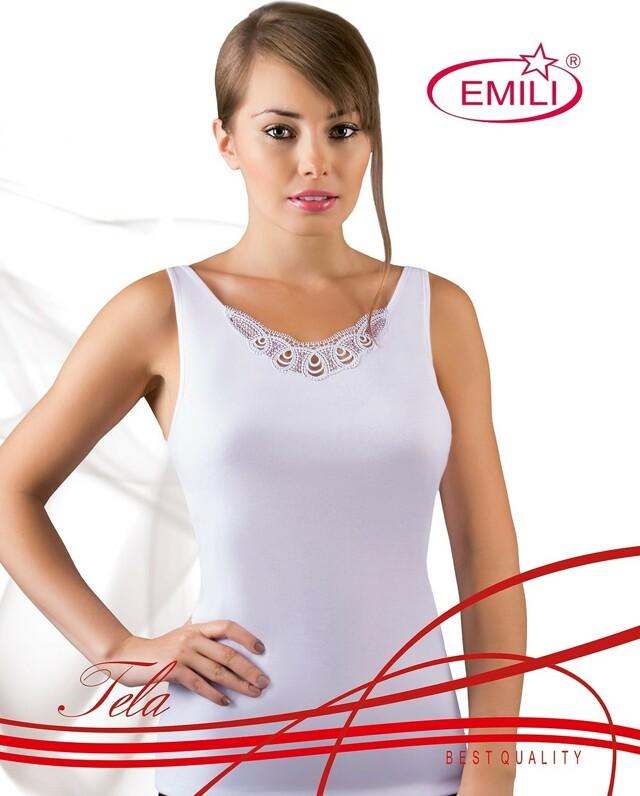 Košilka Emili Tela S-XL bílá - XL - bílá