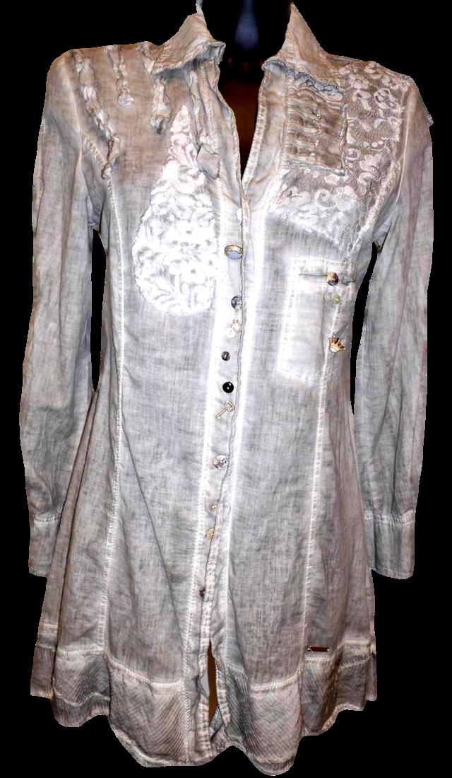 Dámská košile MSB81 - Morgana - L - šedá