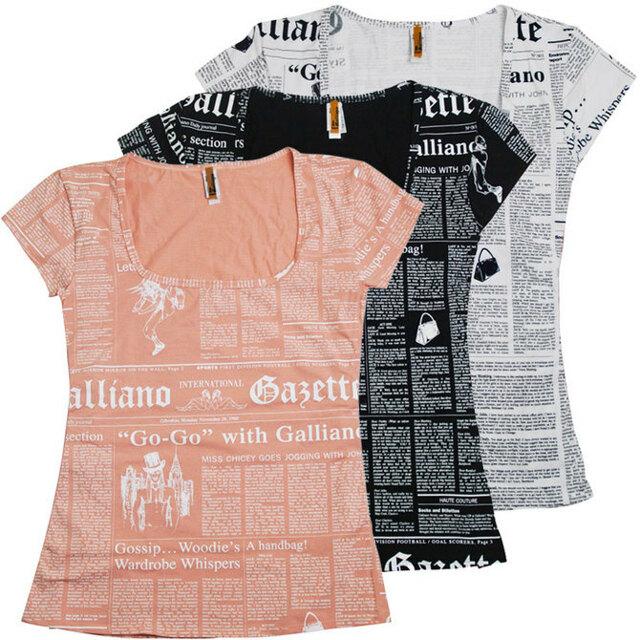 Dámské triko H828-T40 - John Galliano - L - růžová