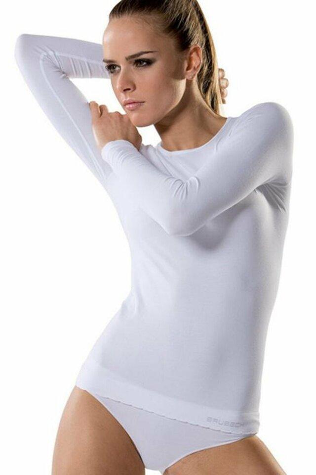 Dámské tričko LS 900 white - BRUBECK - L - bílá