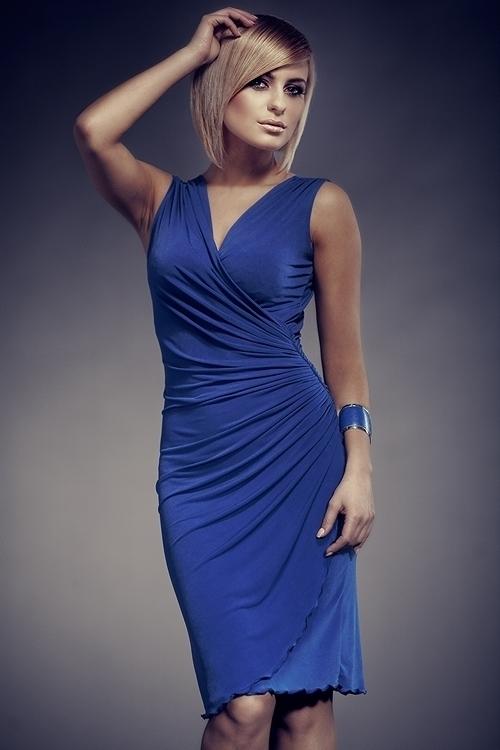 Dámské šaty M053 blue