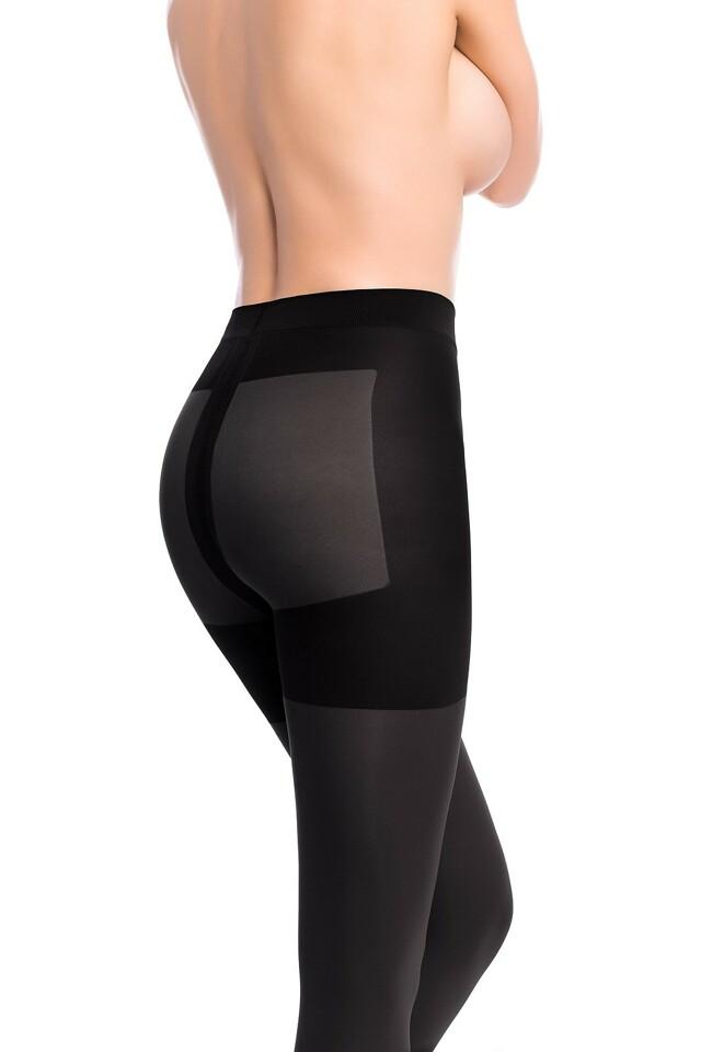 Dámské punčochové kalhoty Mona Micro Push-Up 100 den 2-4 - - černá