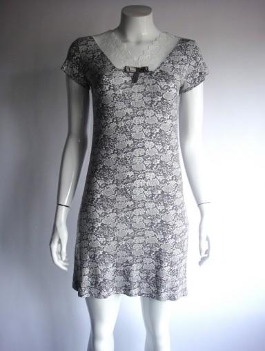 Dámská noční košile COC 900 KG Cocoon - XL - černo-bílá