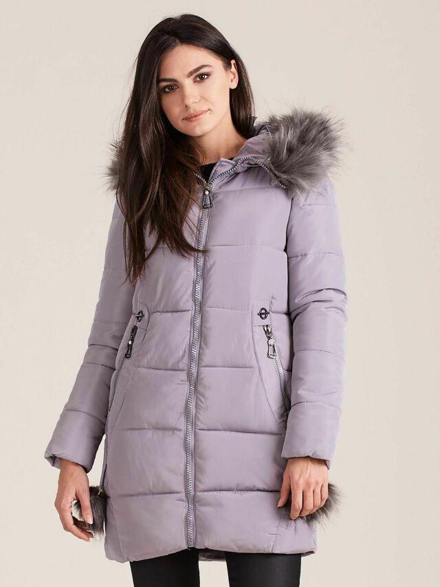 Dámská zimní bunda s kožešinou 1217 - FPrice - XXL