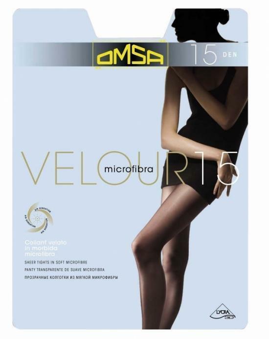 Punčochové kalhoty Velour 204 15 DEN - Omsa