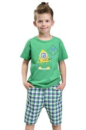Chlapecké pyžamo s příšerkou Julek zelené - 110