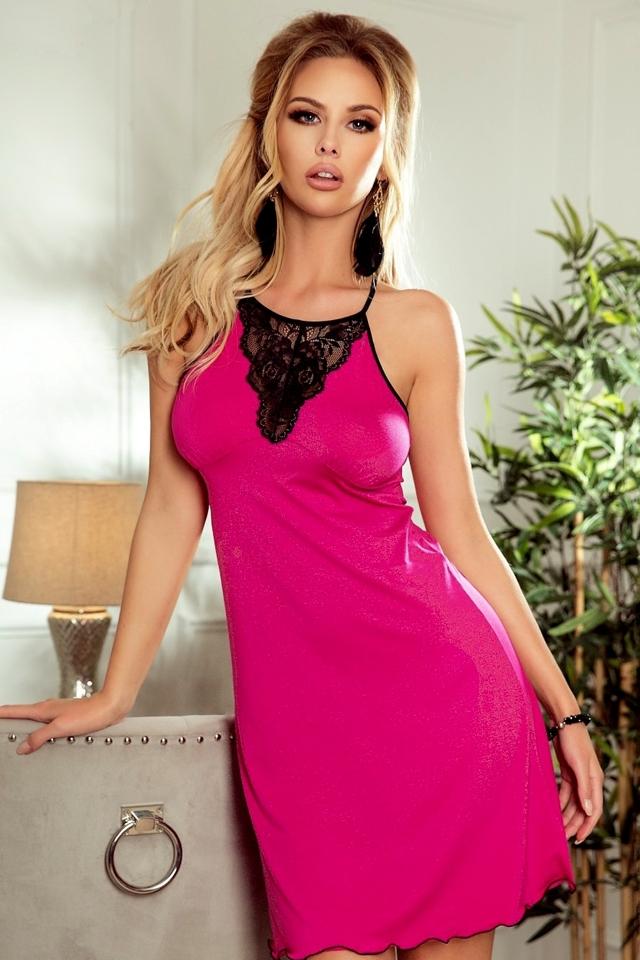 Noční košile Isabell pink - M - růžová