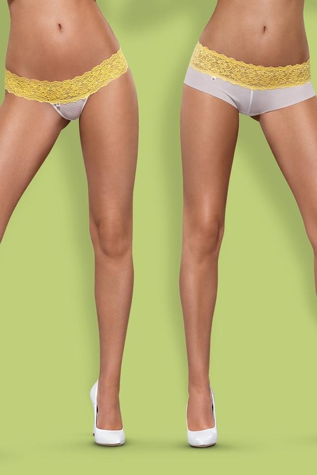 Dámské kalhotky a tanga Lacea 2pack yellow - S/M - bílá-žlutá