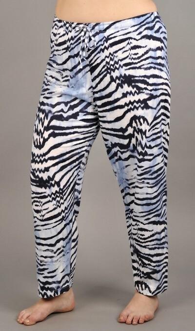 Dámské pyžamové kalhoty Tygr 4311 - Vienetta - XL - modro-bílá