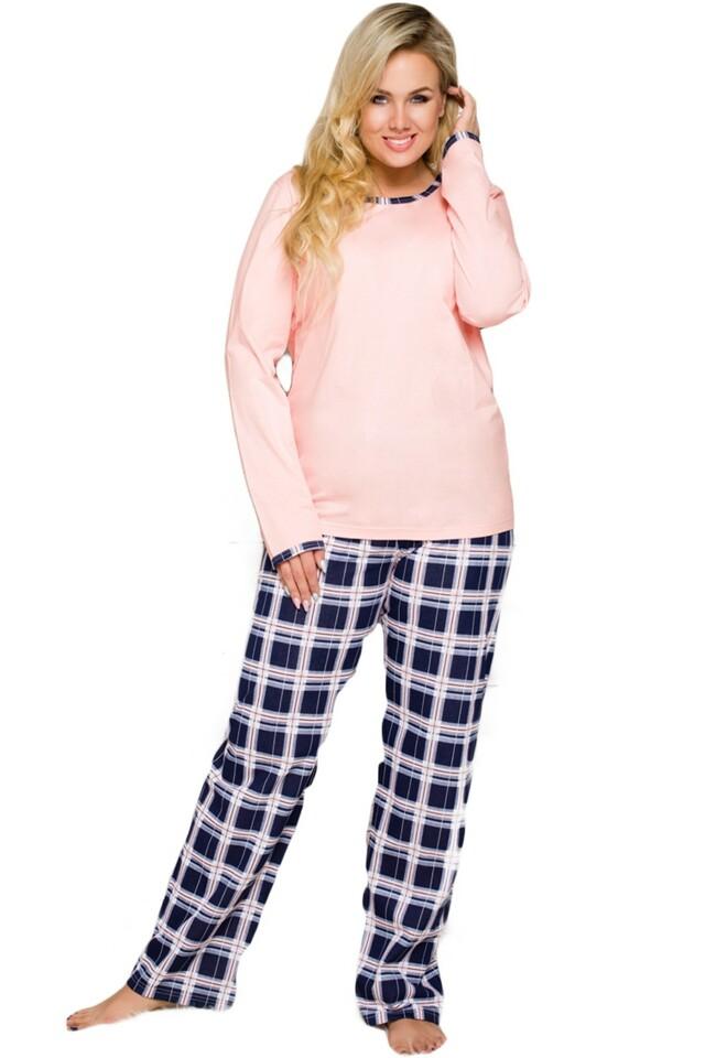 Dámské pyžamo Ela 714 pink - XXL - růžová
