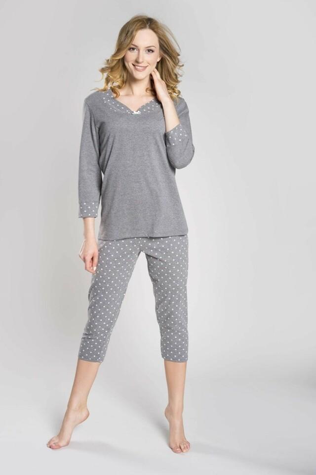 Dámské pyžamo Damia plus melange - XXL - melanž