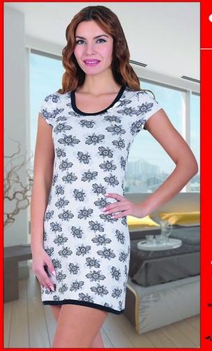 Dámská noční košile COC 875 KG Cocoon - L - bílá/modrá