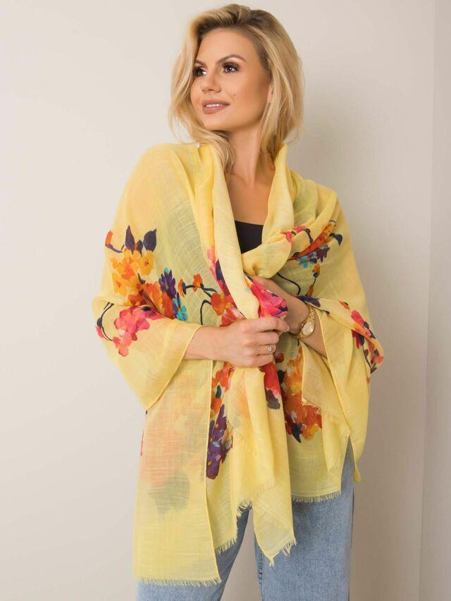 Žlutý květinový šátek - ONE SIZE