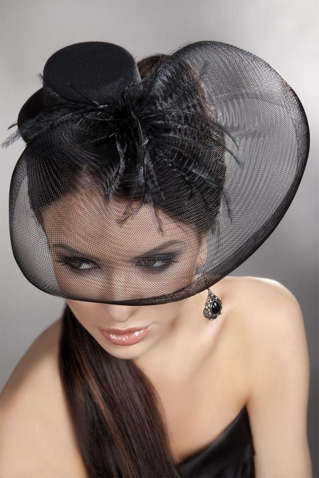 Ozdoba Mini top Hat 24 - Univerzální - černá