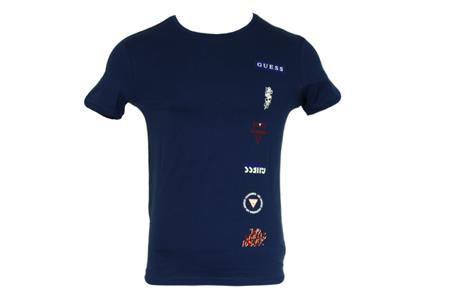 Pánské tričko U84M03JR00A - Guess - M - tmavě modrá