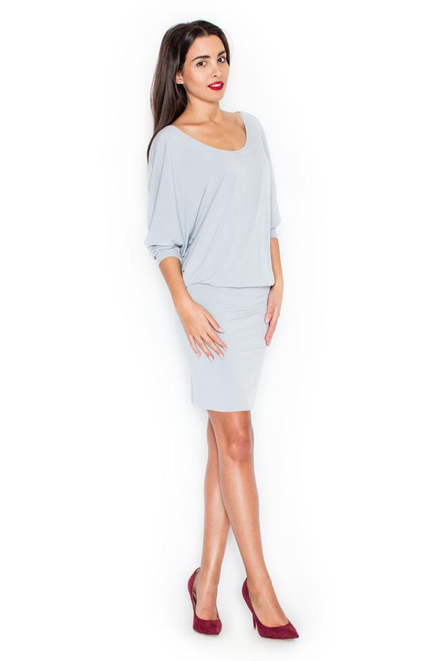 Denní šaty model K262 Katrus - L/XL - šedá