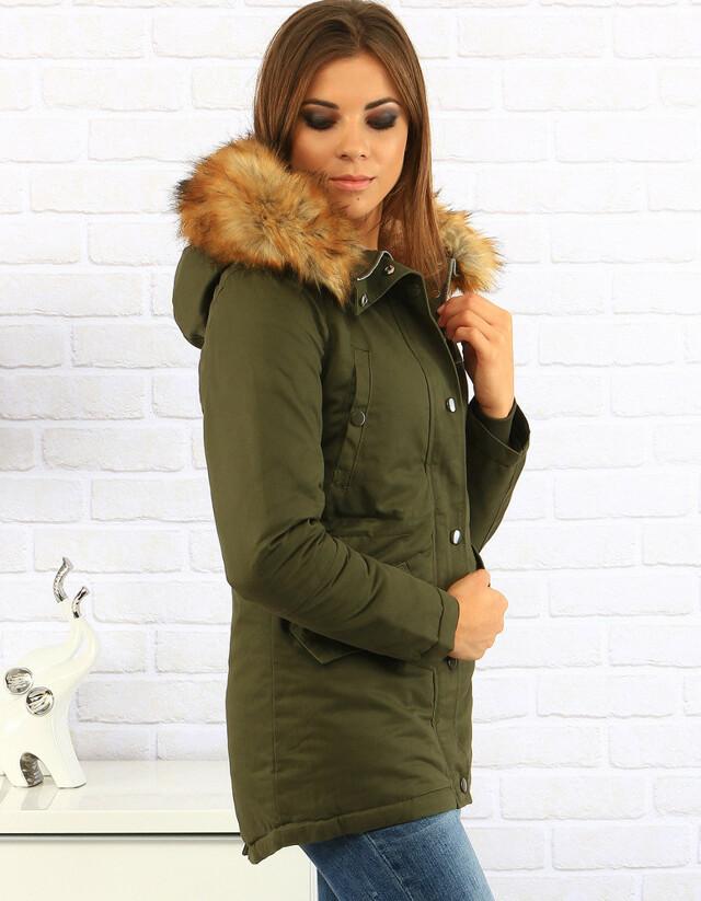 Dámská zimní bunda 5622B (ty0151) - FEIFA - S - olivovo zelená