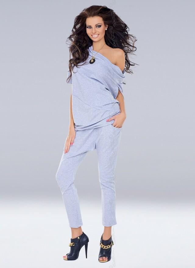 Dámské kalhoty VU-0047 - S/M - šedá