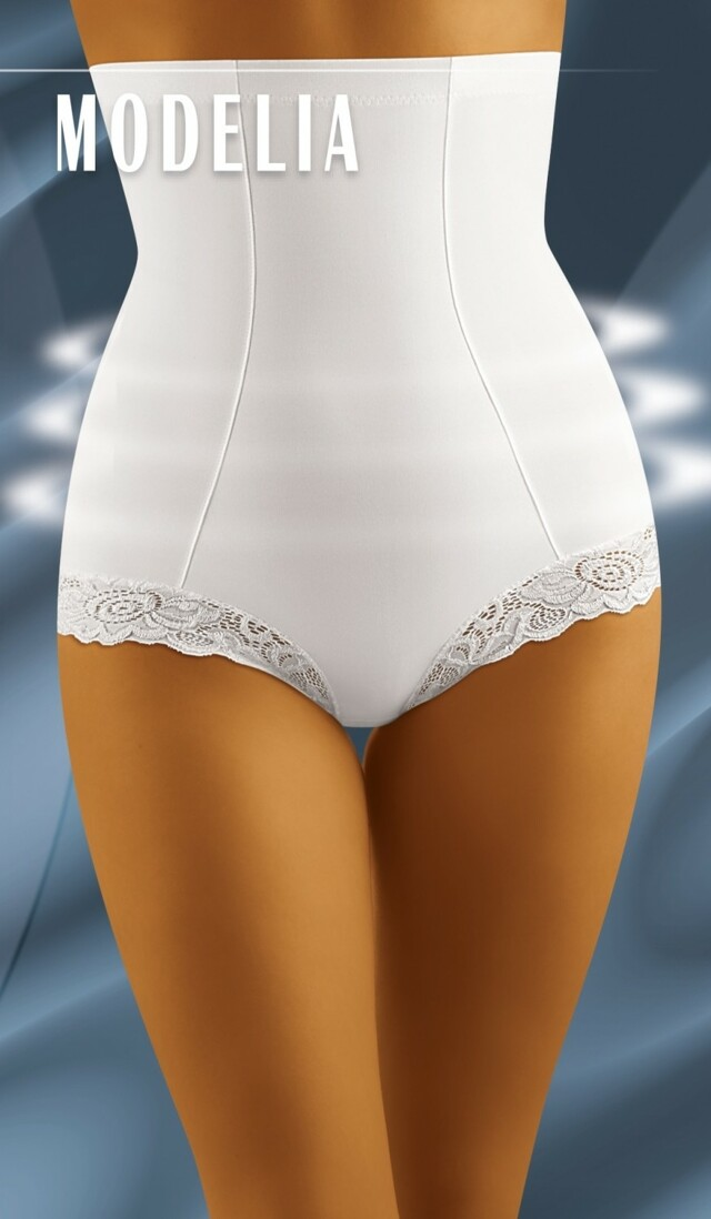 Stahovací kalhotky Modelia white - M - bílá
