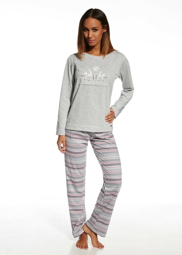 Dámské pyžamo Cornette 655/105 Snowflake - XL - žáhaná