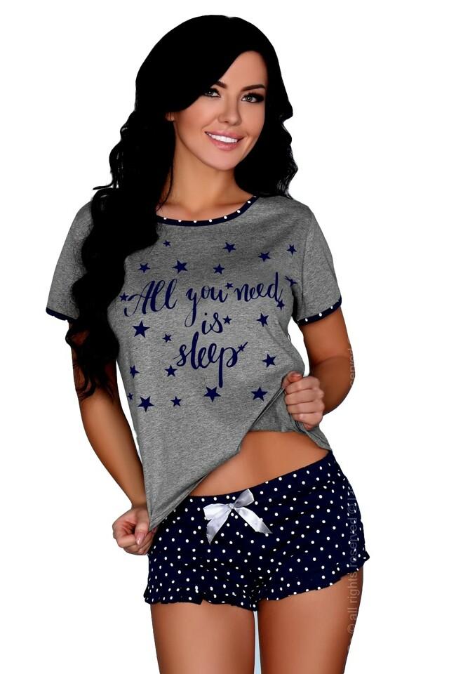 Dámské pyžamo Maxinne - L/XL - modrá