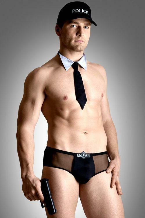 Pánský kostým Policeman set - XL - černá