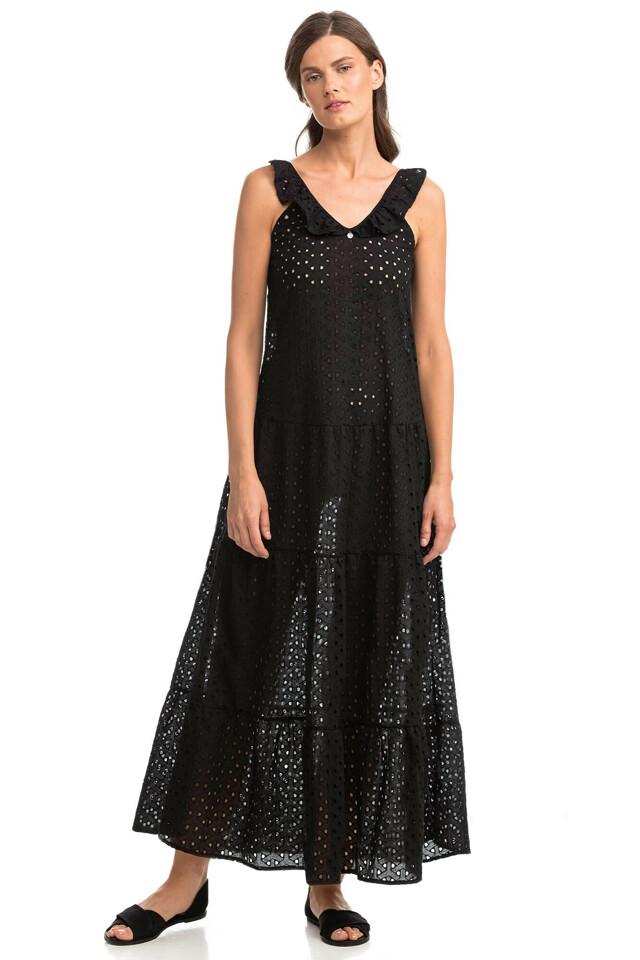 Vamp - Dámské jednobarevné plážové šaty 14420 - Vamp - m - černá