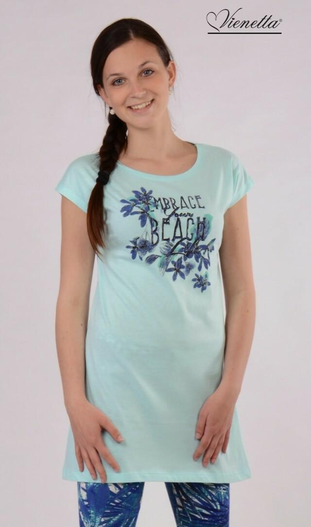 Dámské pyžamo kapri Beach - modrá S
