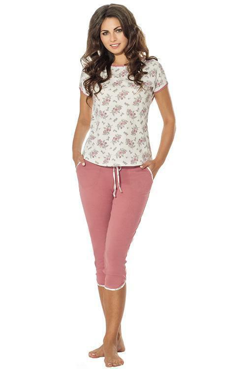 Dámské pyžamo Luna 651-1 - L - růžová