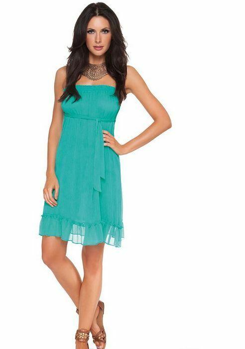 Dámské šaty Basic Liberty A590 - Magistral - S - bílá