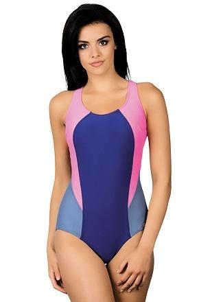 Dámské sportovní plavky Greta modrošedorůžové