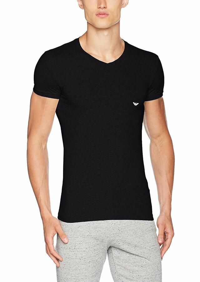 Pánské tričko 110810 CC729 00020 černá - Emporio Armani