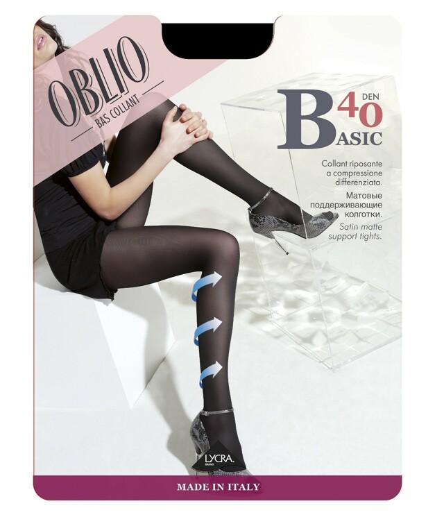 Punčochové kalhoty Oblio Basic 40 den 5XXL - 5-XXL - camp/odstín béžové