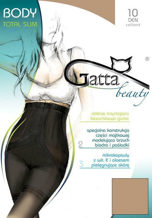 Punčochové kalhoty Gatta Body Total Slim 10 Den - 2-S - nero