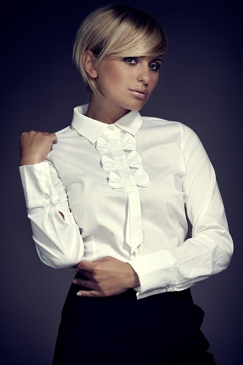 Dámská košile M001 white - M - bílá