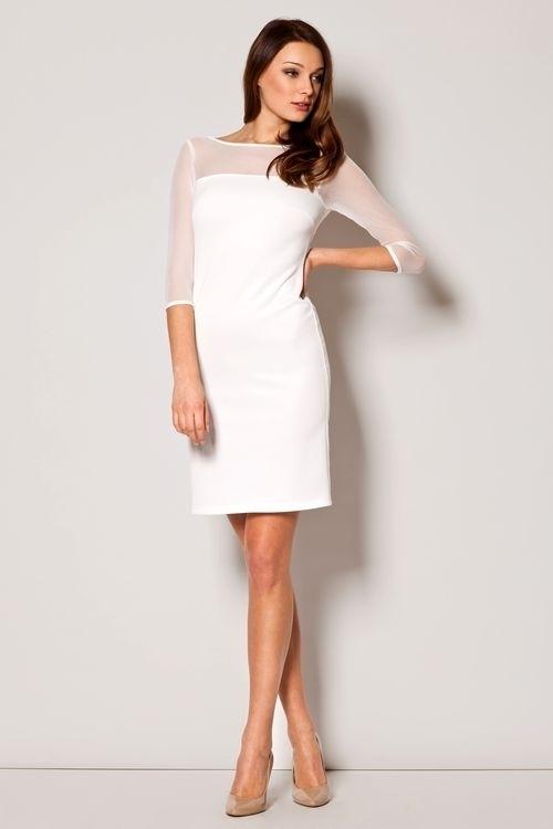 Dámské šaty M237 ecru - XL - krémová