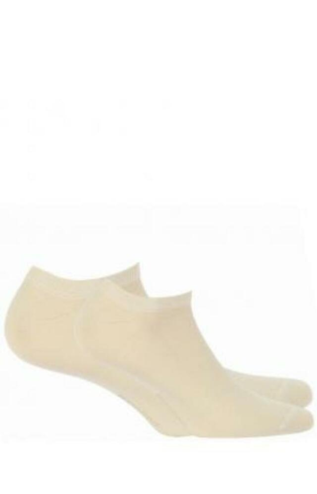 Hladké dámské bambusové ponožky se silikonem - šedá - 39/42